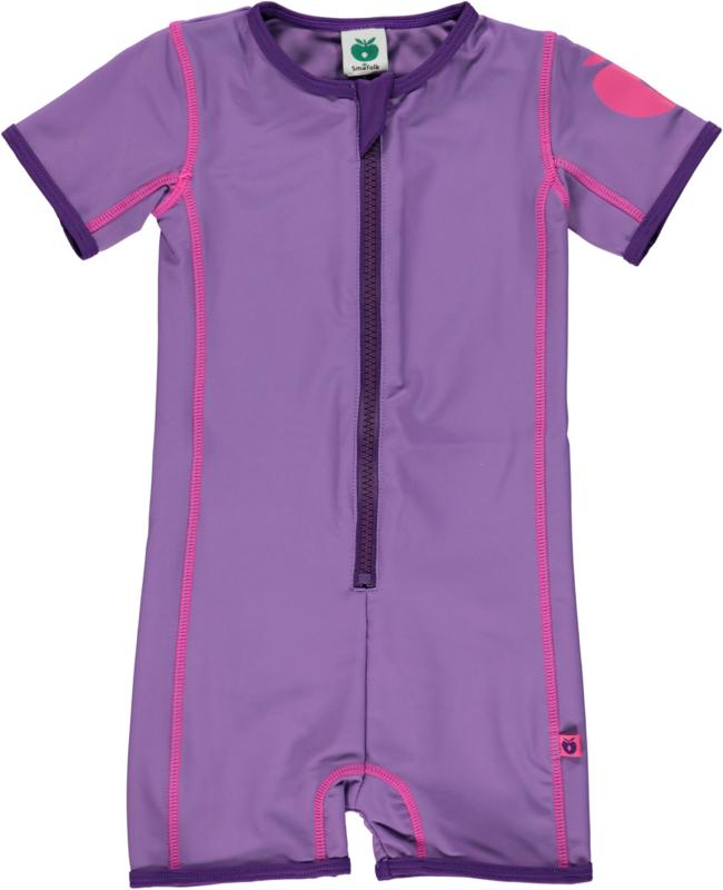 UV swimsuit Smafolk,  solid purple 68, 74 of 80