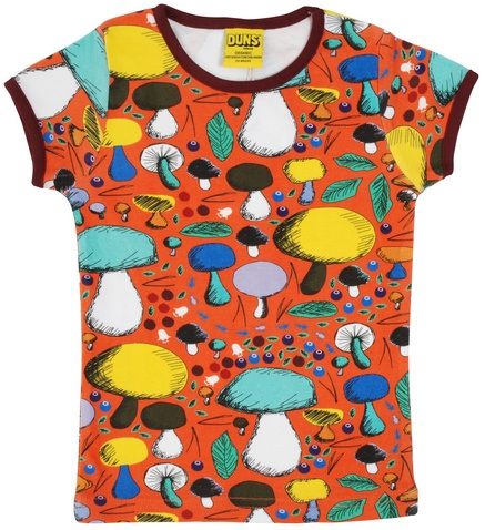 T-shirt DUNS Sweden, Mushroom Forest dark orange