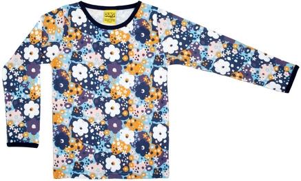 T-shirt Long Duns Sweden, Flower Blue 80, 92, 104, 116 of 128