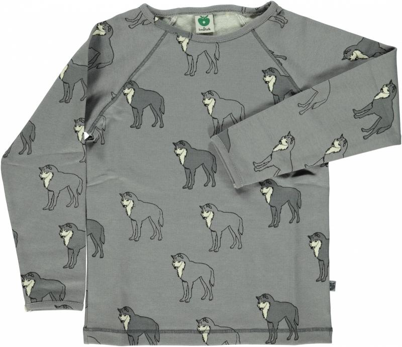 T-shirt long, Raglan, Smafolk, Wolf, Wild Dove 86-92