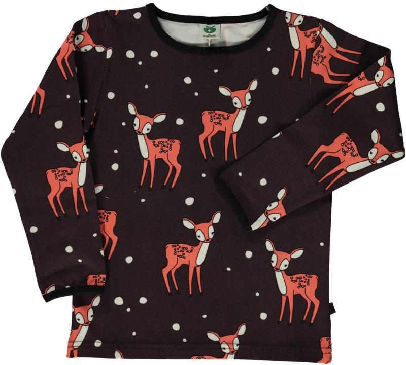 T-shirt long Smafolk, Babydeer dark brown