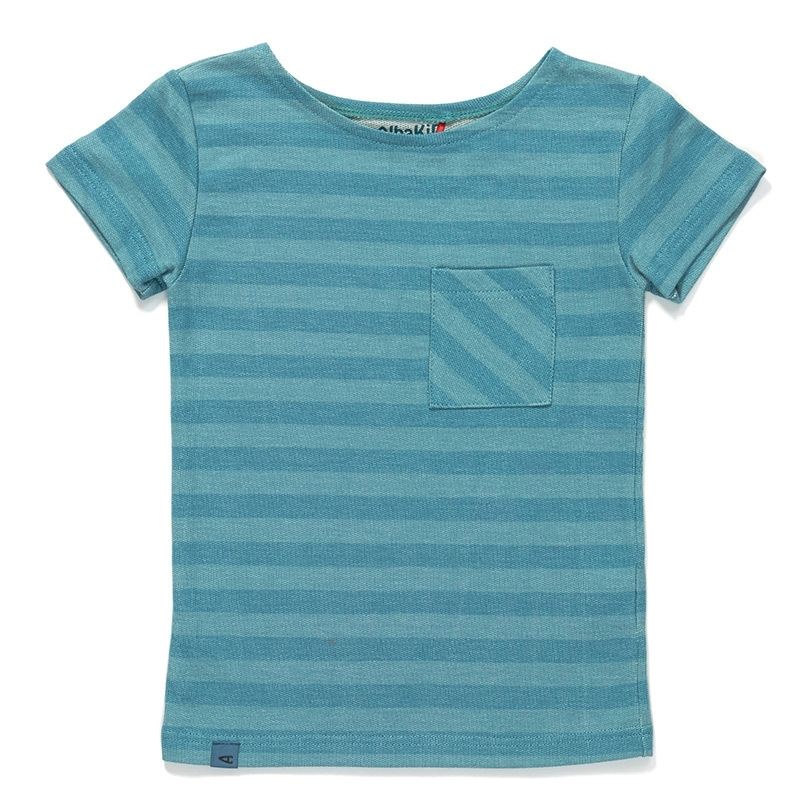 T-shirt Albababy, Glow pocket blue striped 86