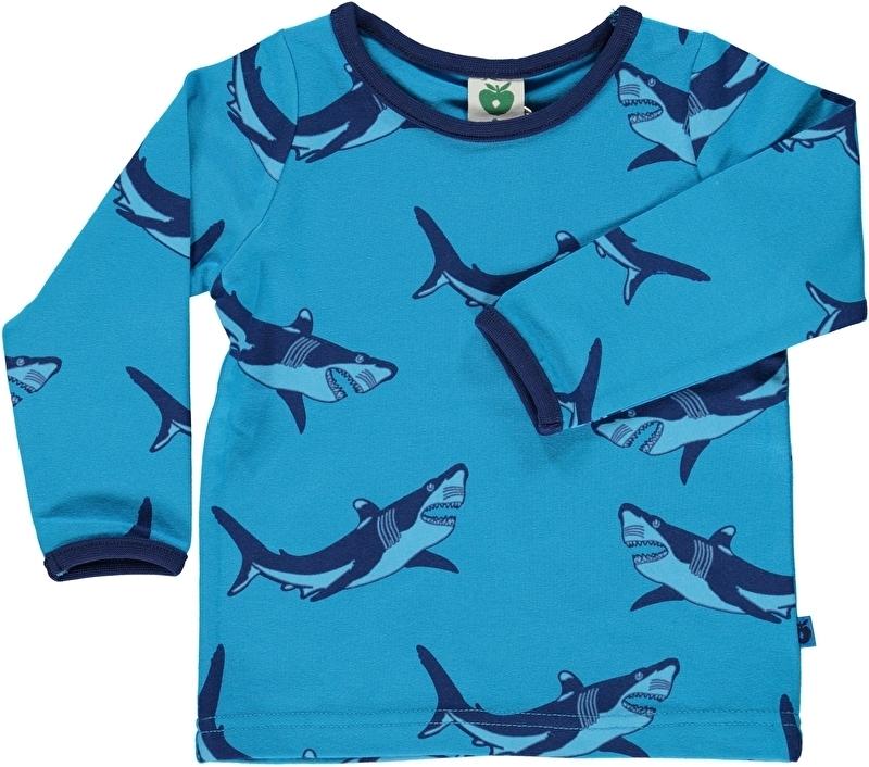 T-shirt long Smafolk, Sharks light blue 86-92