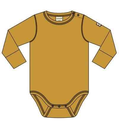 Romper / bodysuit LS Maxomorra, ochre