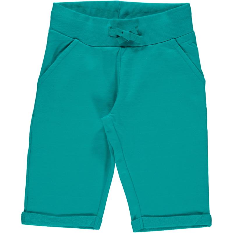 Broek / sweatshorts knee Maxomorra, Turquoise