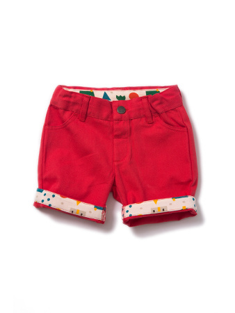 Broek / Shorts  Little Green Radicals, Pilar Box Red Shorts 9-12mn