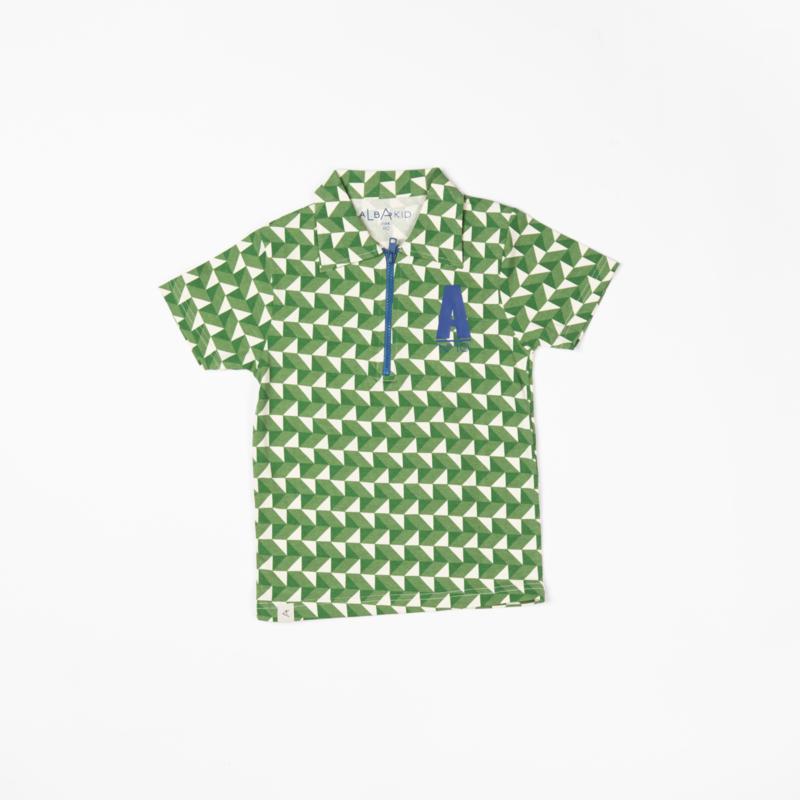 Polo/shirt Alba of Denmark, Albert shirt Juniper crazy with triangle