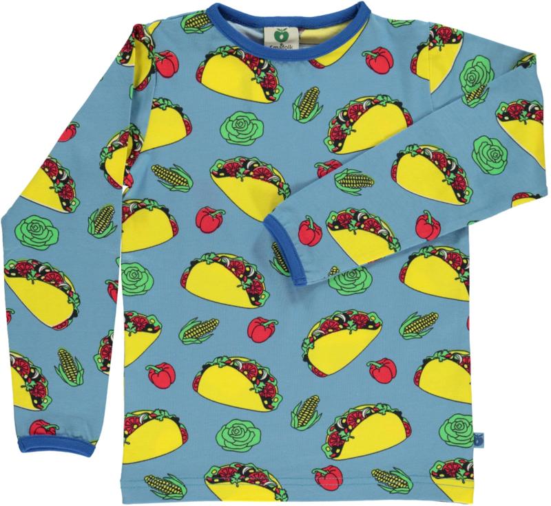 T-shirt long Smafolk, Taco sky blue