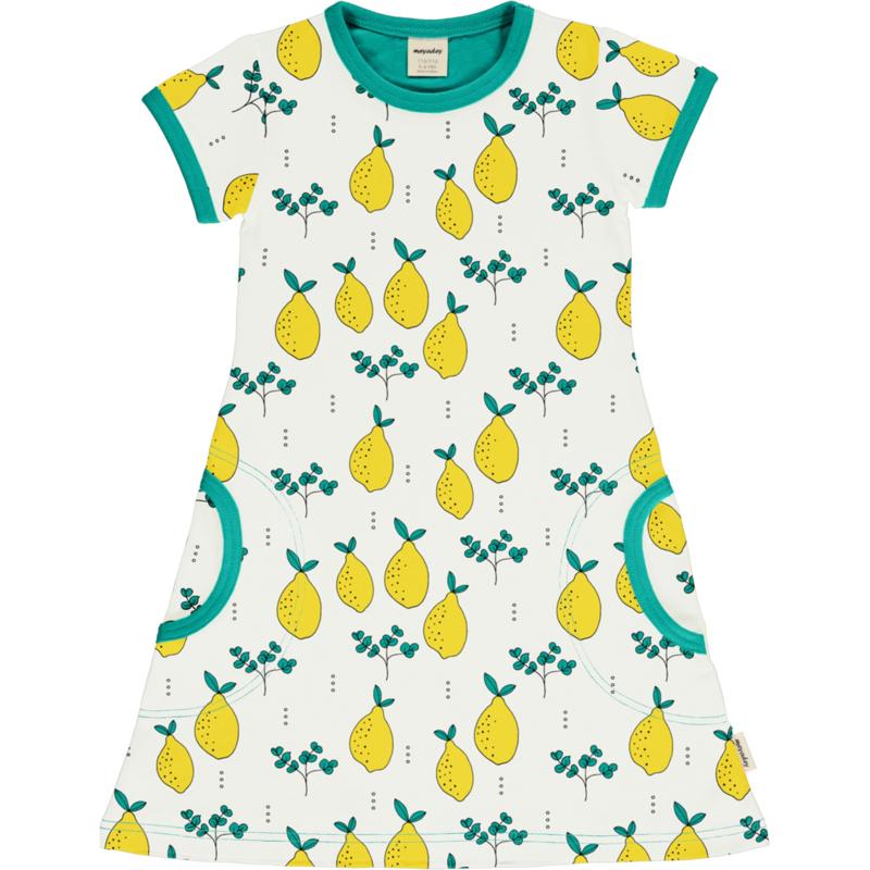 Jurk / Dress SS Meyadey by Maxomorra, Leafy Lemon