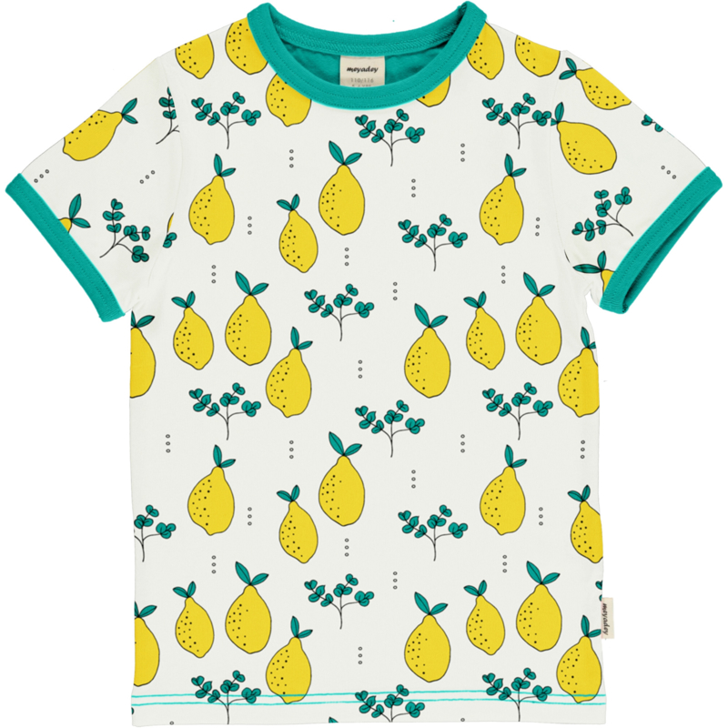 T-shirt Meyadey by Maxomorra, Leafy Lemon