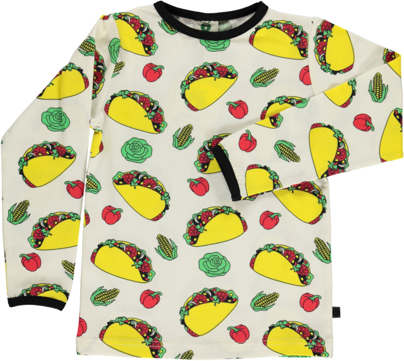 T-shirt long Smafolk, Taco Cream