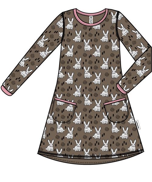 Jurk / Dress LS Maxomorra, Rabbit 92, 122-128