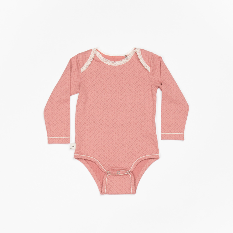 Romper / Body Albababy, Nanna Old Rose Waves 80 of 92
