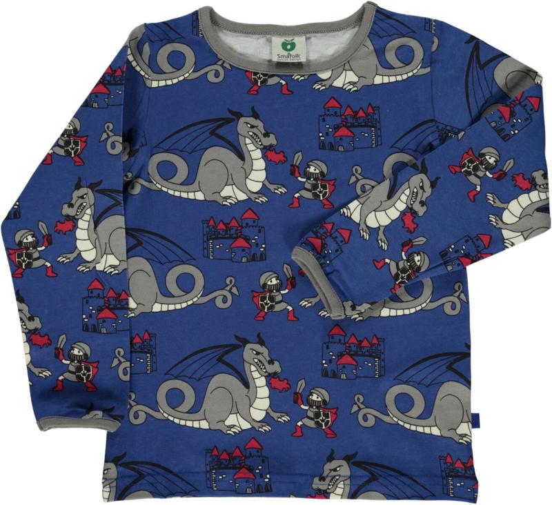 T-shirt long Smafolk, castle true blue 86-92, 92-98 of 98-104