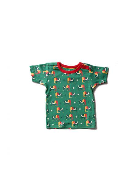 T-shirt Little Green Radicals, Starry eyed elephant green