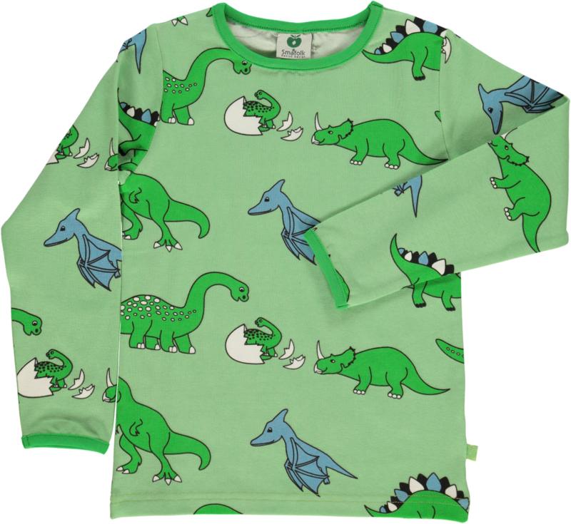 T-shirt long Smafolk, Dino pistache