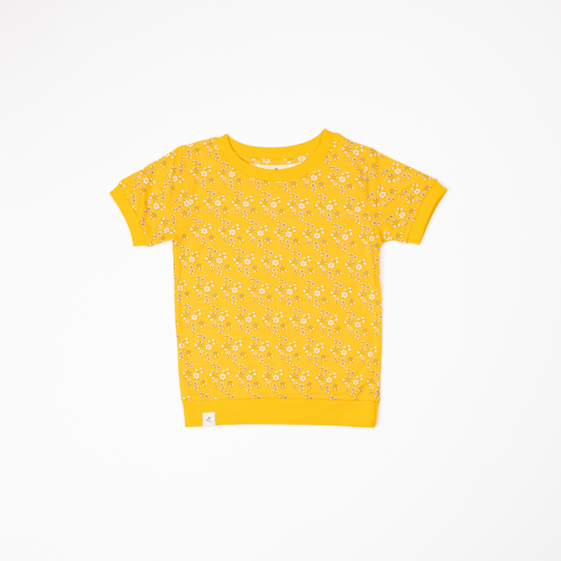 T-shirt Albababy, Alberte Old Gold liberty love