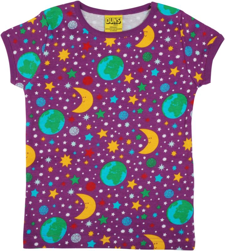 T-shirt DUNS Sweden, Mother Earth bright violet