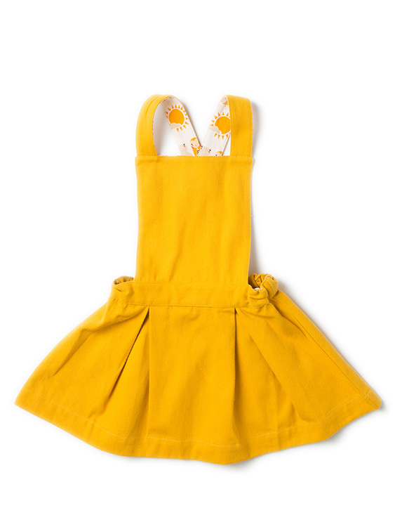 Dress, overgooier Little Green Radicals, Gold Pinafore Dress  4-5y