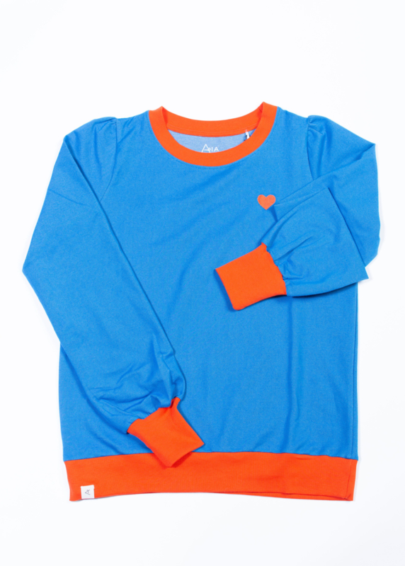 Sweat Ladies AiA all I adore by Alba of Denmark, The sweat shirt for a cozy day, snorkel blue