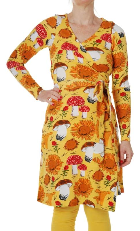 Dress LS wrap Ladies, Duns Sunflower Yellow