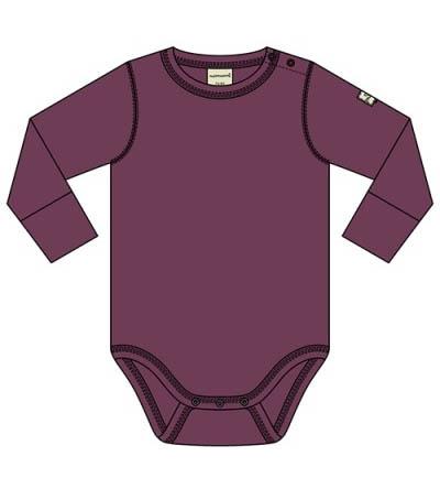 Romper / bodysuit LS Maxomorra, plum