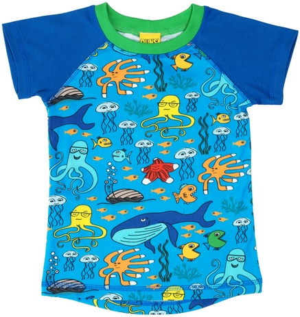 T-shirt Raglan DUNS Sweden, Sealife blue 86-92 of 98-104