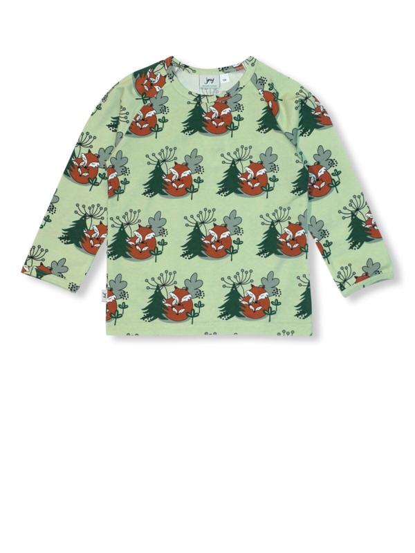 T-shirt long / longsleeve JNY,  cuddling Foxes