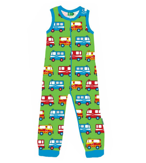 Playsuit, Crawler Naperonuttu, Alarm Cars Green Stretch Frotte 62 of 74