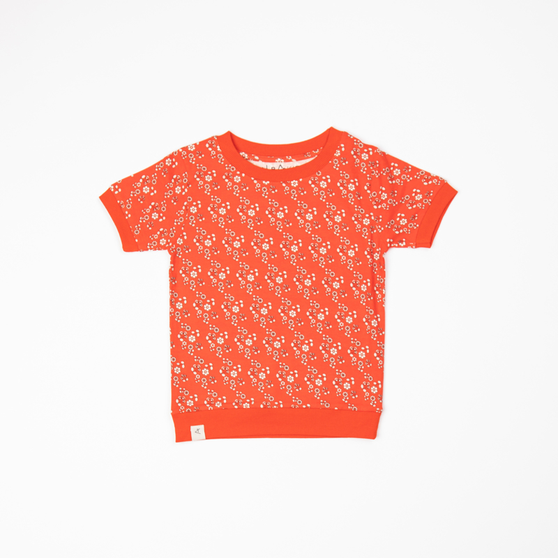 T-shirt Albababy, Alberte orange.com liberty love