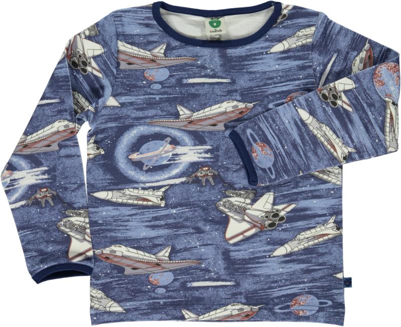 T-shirt long Smafolk, Spaceship grey
