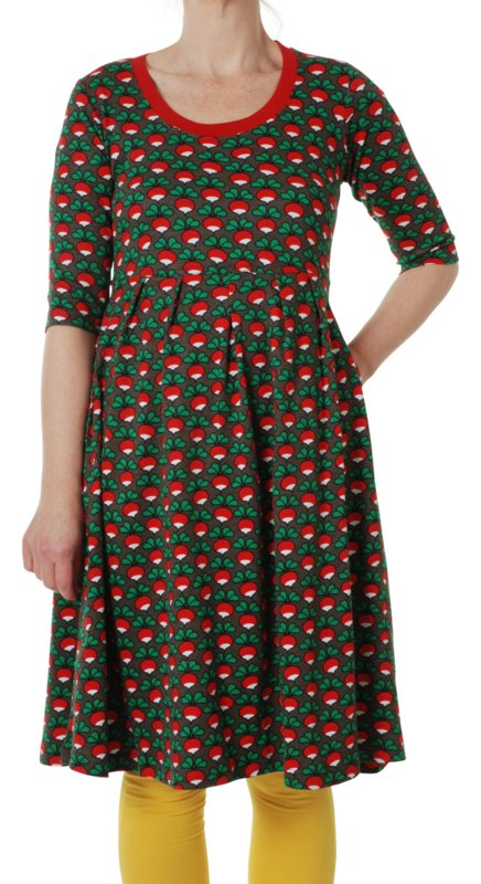 Dress LS with scooped neck Ladies, Duns Radish Charcoal