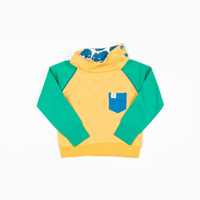 Longsleeve Sweat Albababy, Hollum Sweat Pepper green and yellow