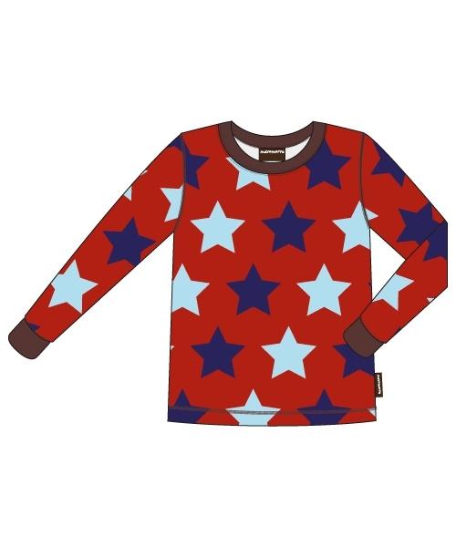 T-shirt long / longsleeve Maxomorra, Stars 74-80