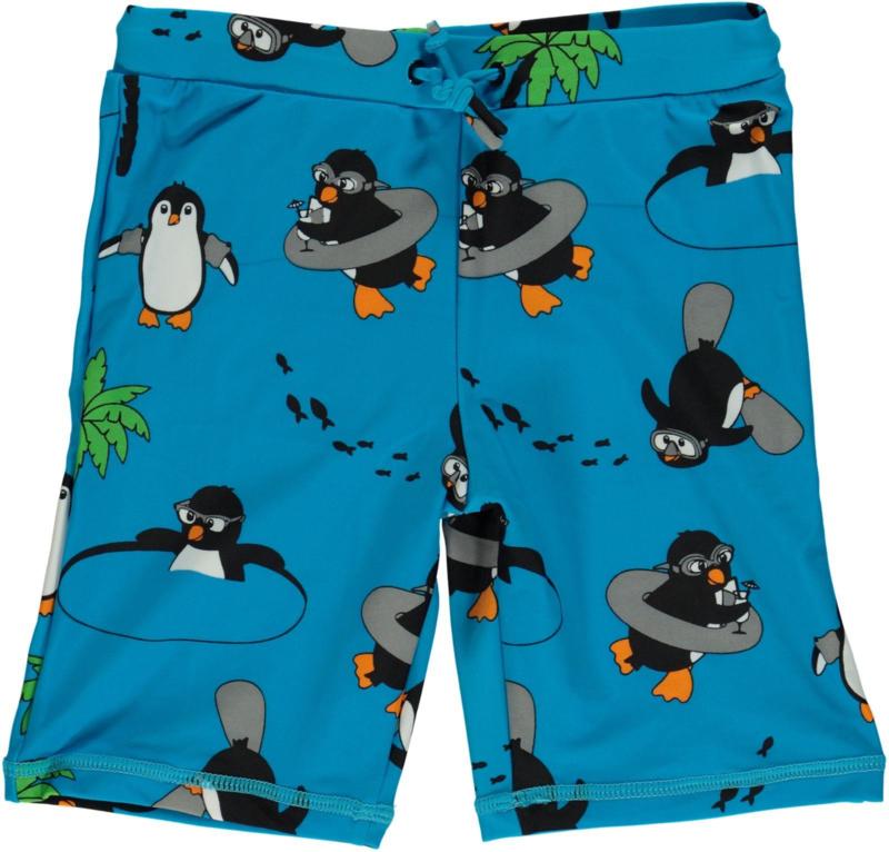 Zwembroek / UV swimpants Smafolk, penguin ocean blue 86-92