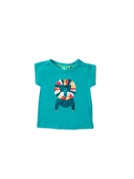 T-shirt Little Green Radicals, Leo Lion blue light as air 92