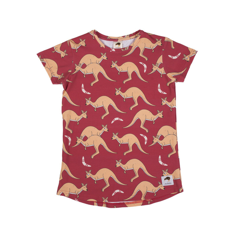 T-shirt Mullido, Kangaroo red