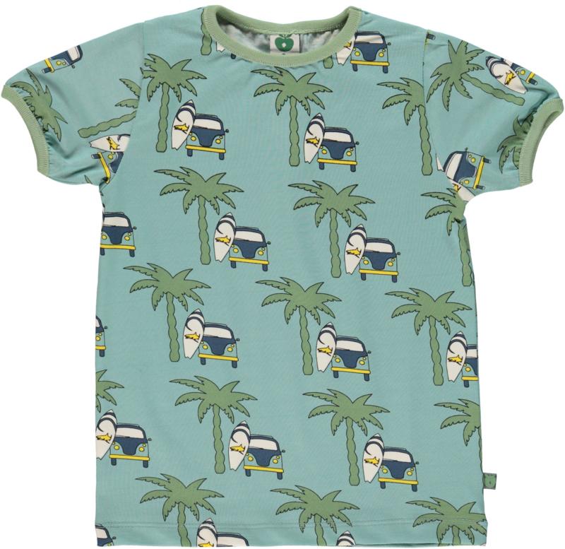 T-shirt  Smafolk, Surfercar ether blue 1-2y of 3-4y