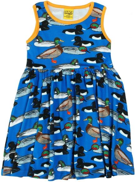 Jurk / sleeveles dress, gathered skirt,  DUNS Sweden, Duck Pond navy