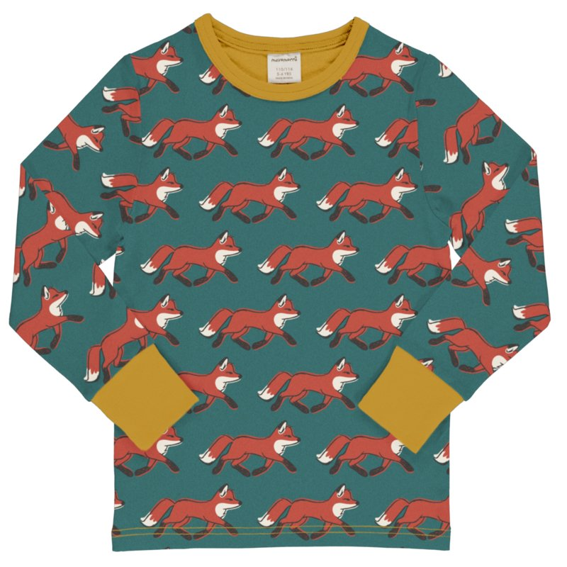 T-shirt long / longsleeve Maxomorra, Fox 110-116 of 134-140