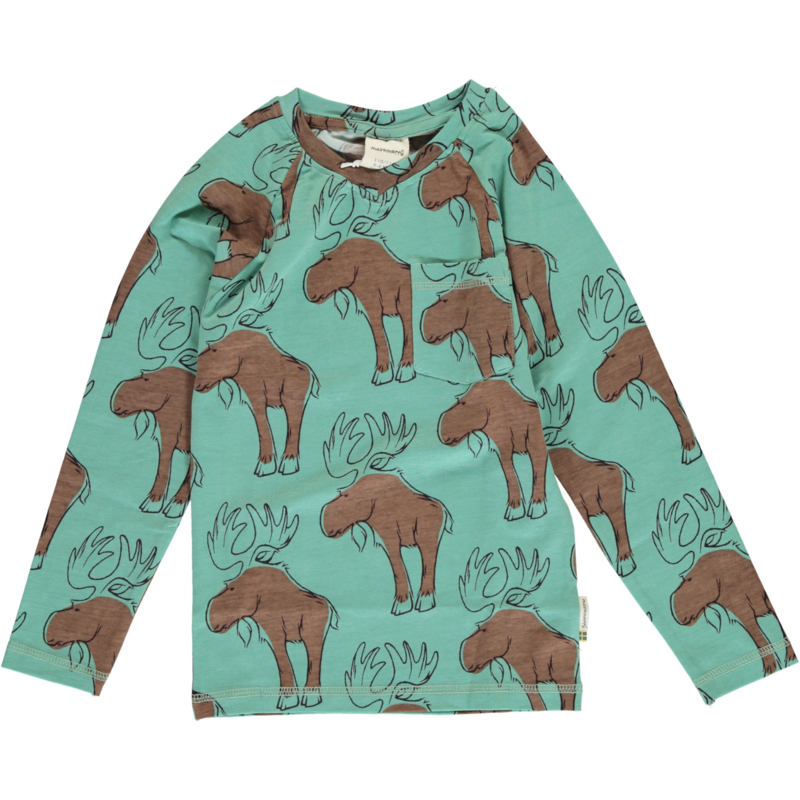 T-shirt long / longsleeve Slim V Maxomorra, Mighty Moose 110-116 of 134-140
