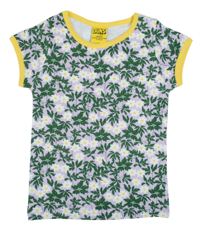 T-shirt , shortsleeve Ladies Duns Sweden, Wood Anemone viola Ladies XL