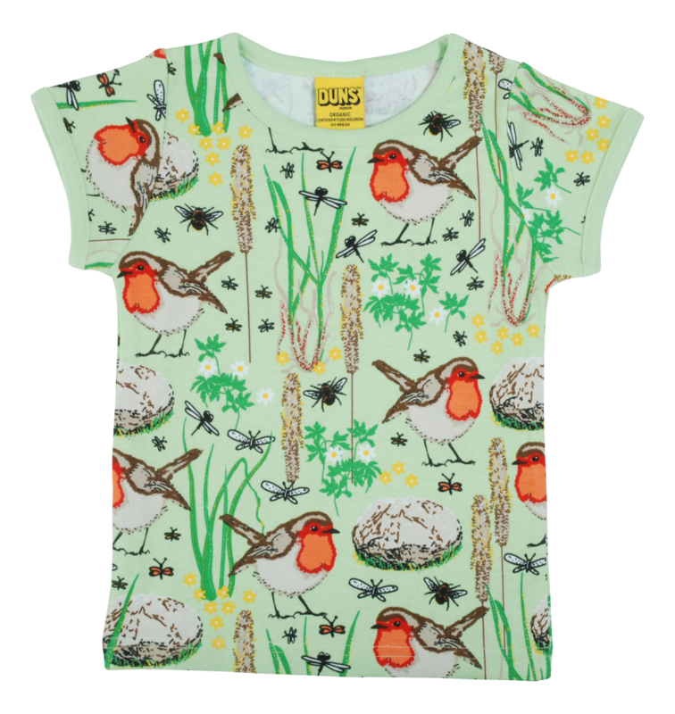 T-shirt DUNS Sweden, Robin Nile green