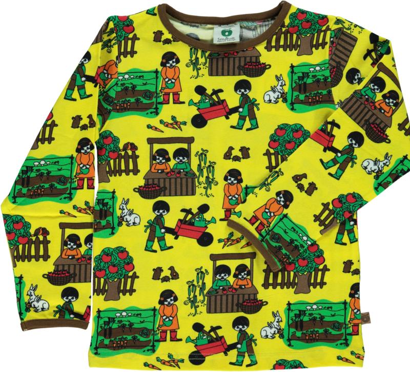 T-shirt long Smafolk, Garden Yellow