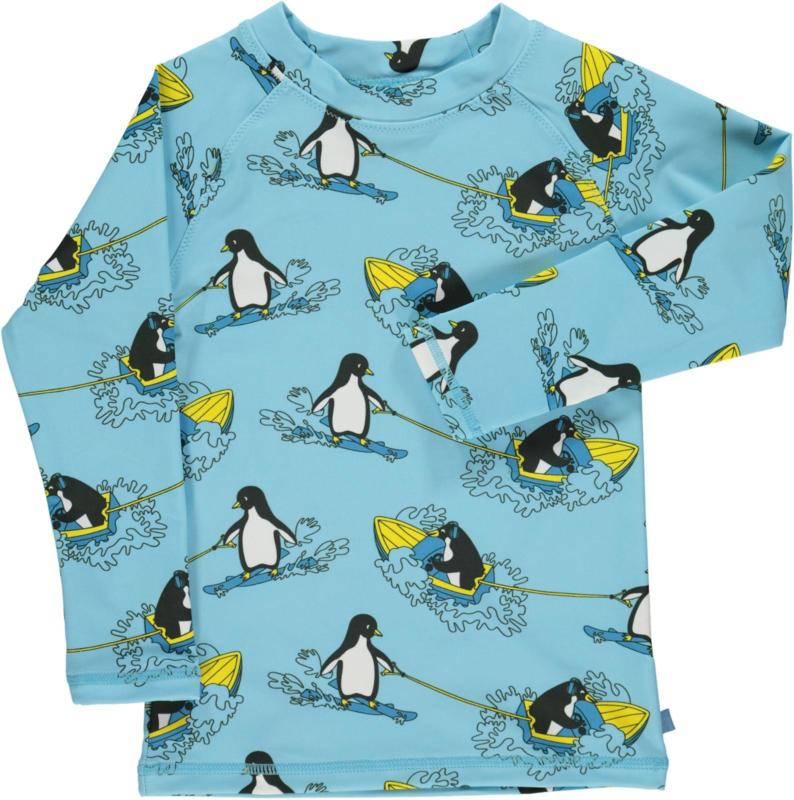 UV swimshirt Smafolk, Surf Penguin Air blue