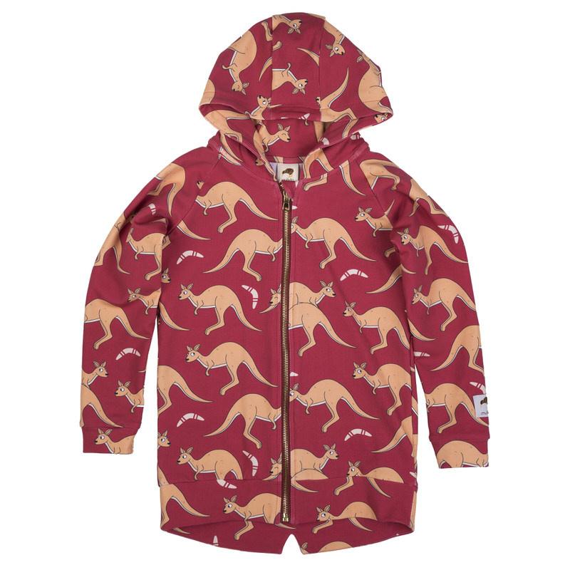 Hoodie Mullido, Kangaroo red