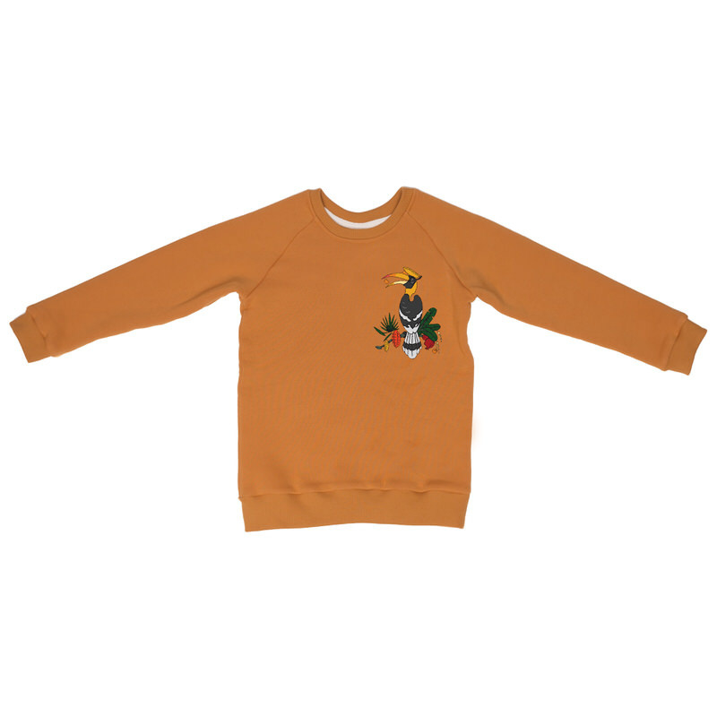 Sweatshirt Mullido, Hornbill mustard sweat