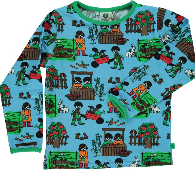 T-shirt long Smafolk, Garden Blue Grotto
