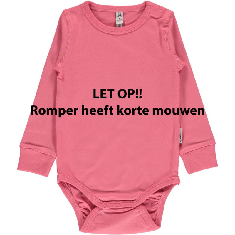 Romper Bodysuit SS Maxomorra, Rose pink 50-56 of 62-68