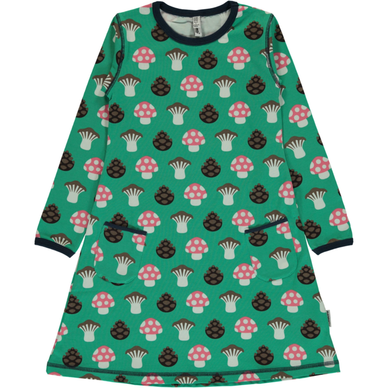 Jurk / Dress LS Maxomorra, Mushroom 86-92 of 122-128
